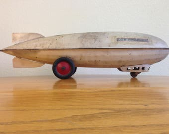 Rare 1920s Metal Toy Airship USS Los Angeles