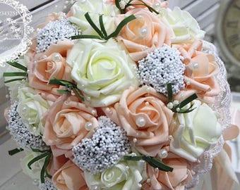 Stunning wedding bridal/bridesmaid/flowergirl bouquet charming
