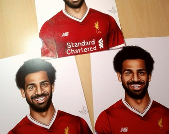 PRINT of Mohamed Salah Drawing