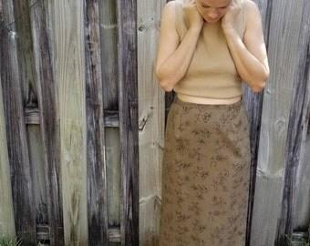 Vintage women's floral skirt