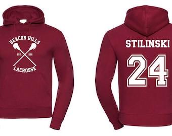 Teen Wolf Beacon Hills Lacrosse Hoodie Stinlinski 24 Hoodie