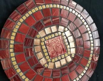 "10"" round mosaic lazy Susan"
