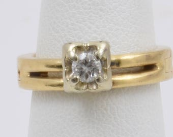 14k Yellow Gold Ring with .20 ct VS2 Diamond