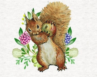 Handmade Cushion Cover - Beatrix Potter - Squirrel Nutkin - Various Sizes