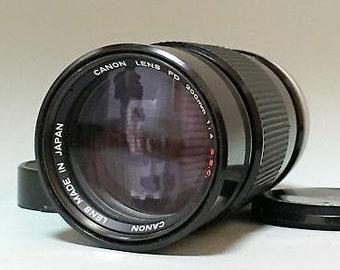Canon fd 200mm f/4 s.s.c lens for fd mount e-k1124