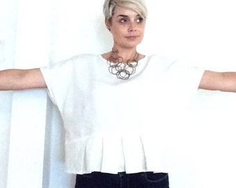 The Linen Pleated Tee - One of a Kind Wednesday