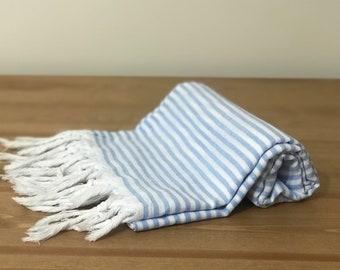 "66"" x 36""  Yakamoz  Blue Cotton Bath & Beach Towel"