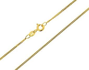 Brand New 9ct Gold Diamond Cut Curb Chain 20'/50cm