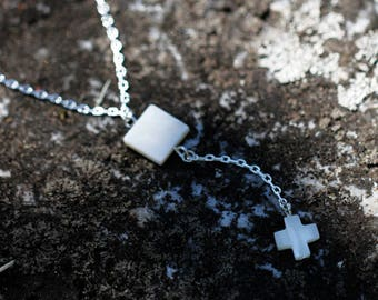 Necklace for girlfriend birthday | Cross Necklace | Sterling Y Necklace | Dainty Silver Y | Chain Silver Y Chain | Necklace for girlfriend