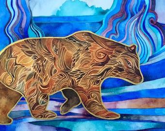 Ursa Major Bear Print by Megan Noel