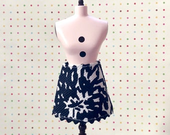 Black and White Mod Mini Skirt for Blythe