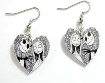 Handcrafted Plastic Nightmare Before Christmas Halloween Costume Party Earrings Made in USA