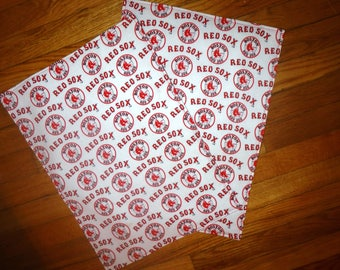 Set of 2 Red Sox Reversible Place Mats Table 13 1/2 X 18 1/2