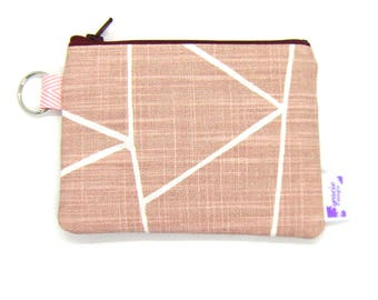 Coin Purse / Change Purse / Coin Pouch / Gadget Pouch - Blush Pink Shattered