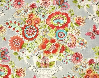 ON SALE - 10% Off Waverly Dena Home Blissful Bouquet Sherbert Home Decorating Fabric By The Yard