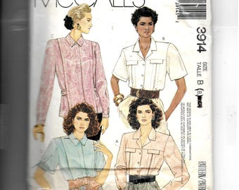 McCall's  Misses' Blouses Pattern 3914