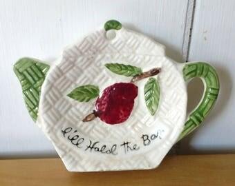 vintage ceramic tea bag holder Japan 2