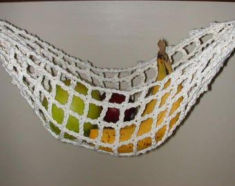 banana hammock fruit hanger holder   cream fruit hammock   etsy  rh   etsy