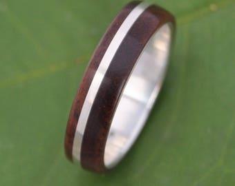 Wood Ring - Solsticio Nacascolo - ecofriendly wood wedding band, mens wedding band, wood wedding ring, wooden wedding ring,