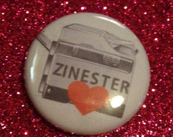 Zinester Love 1 Inch Pin
