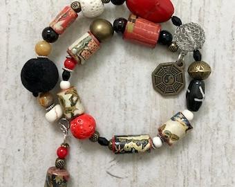 Ying Yang II - wrap around bracelet