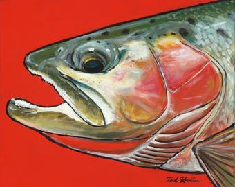 Cutthroat on Red, Limited Ed. Archival Print