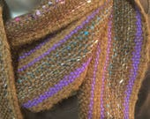 Handwoven Brown and purple scarf