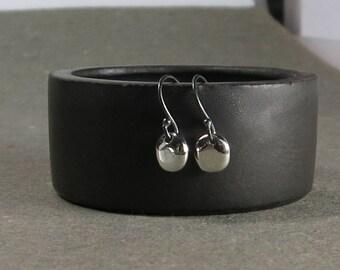 Minimalist Sterling Silver Earrings Petite Tiny Drop Earrings