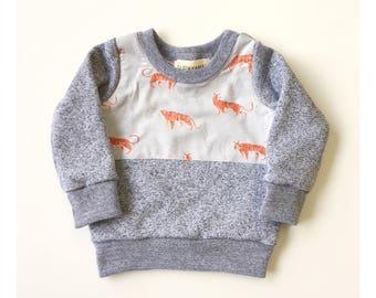 Tiger sweatshirt baby kids toddler shirt Supayana READY TO SHIP