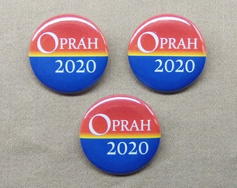 "Oprah 2020 3 Button Set 1.25"" Oprah Winfrey for President of America"