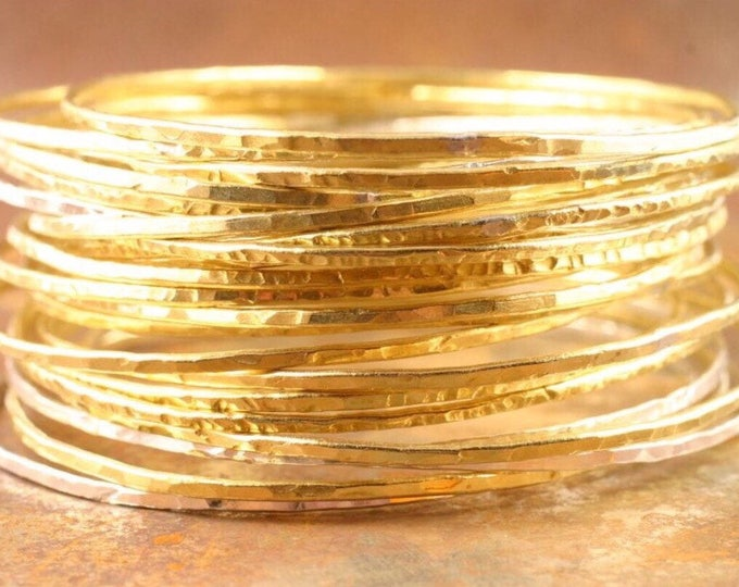 Featured listing image: SALE Brass Bangles set of five brass bangles bangle hammered brass bangles gold bangle stacking bangle bracelets