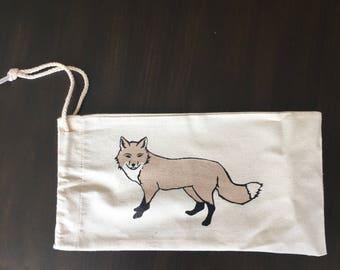 Fox Wine Gift Tote