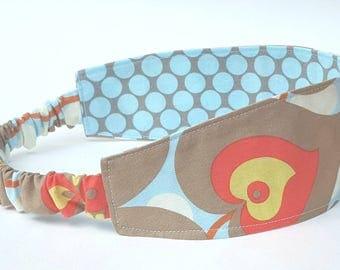 Morning Glory Headband, Made to Match Tula, Elastic Headband, Fabric Headband, Adult Headband, Reversible Headband, Summer Outdoors