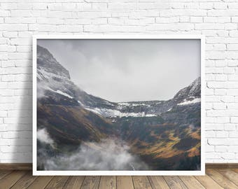 """landscape photography, glacier park, mountains, large art, large wall art, large artwork, large canvas wall art, print -""""Places in My Heart"""""""