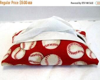 Flash Sale Tissue Holder Baseball Red Pocket Size Sports Tissue Case
