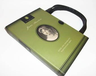 Jane Austen Book Purse Handbag Sense and Sensibility Northanger Abbey