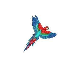 Machine Embroidery Parrot Machine Embroidery File design 4x4 inch hoop