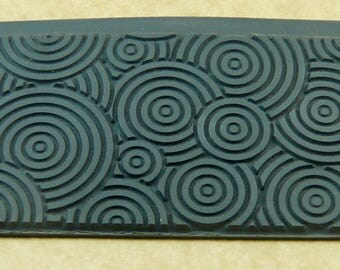 DECO CIRCLESI Rubber Texture Tile Mat Stamp for Clay inks Paint Soap   TTL204