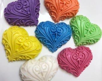 Heart Soap Favors, Wedding Favors, Baby Shower Favors, Bridal Shower Favors, Vegan Heart Favors, Party Favors, Soap Hearts, Guest Soaps