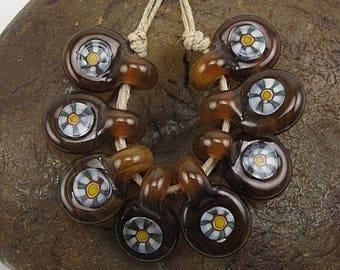 ON SALE Handmade Glass Lampwork Bead Set (8) Handmade by Jason Powers SRA
