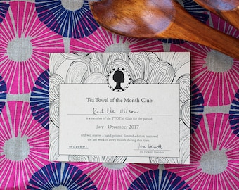 Tea Towel of the Month Club - Quarterly - July-September 2017
