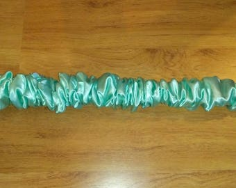 Lamp Cord Covers 9 feet long Seafoam Mist Satin Fabric