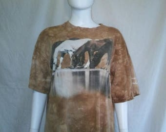 Closing Shop 40%off SALE Horse t shirt, Wild horses drinking t shirt, Virginia City Nevada