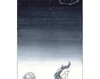 Silver Zodiac: Scorpio Print