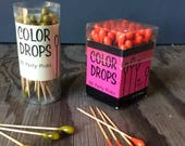 Color Drops Partyl Picks - Product of Japan