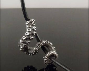 SALE SALE - OctopusME Slider Pendant, Tentacle pendant, Octopus Jewelry, leather Tentacle Slider, Octopus Jewelry, jewelry, ste