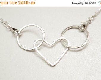 ON SALE Mama Metal Babywearing Necklace, Linked Charm Necklace