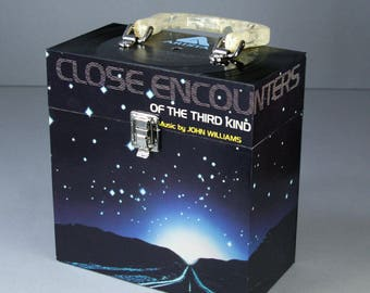 7-inch Vinyl 45 Record Case - Handmade from Recycled Record - Close Encounters Of The Third Kind Soundtrack