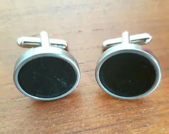 Black typewriter cufflinks / plain black key cufflinks / vintage typewriter key accessories / men's accessory / wedding cufflinks
