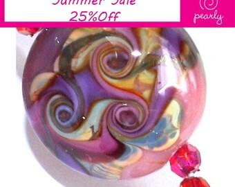 Pearly Renaissance Lampwork beads(6)
